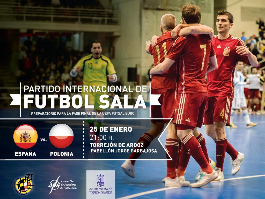 Partido Internacional de la Selección Español de Fútbol Sala